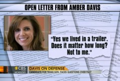 Wendy Davis Daughter Amber Letter CBS News