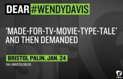 Wendy Davis Interview Bristol Palin Tweet