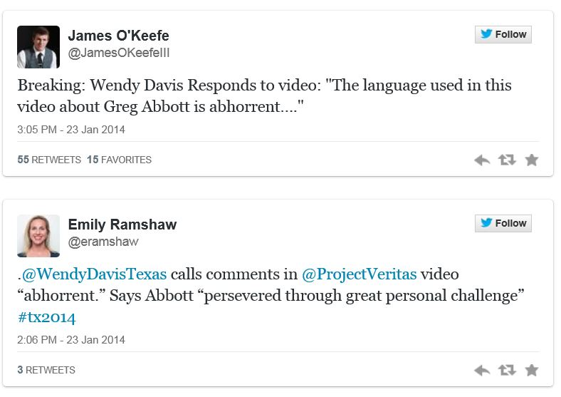 Wendy Davis re Abbott Battleground Texas comments