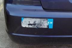 Bumper Sticker - Evanston IL - torn obama sticker