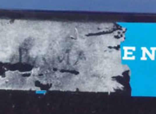 Bumper Sticker - Evanston IL - torn obama sticker close up