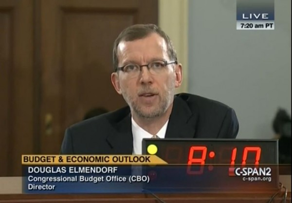 Douglas Elmendorf CBO Obamacare Disincentives to Work