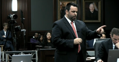 Defense Counsel Cory Strolla pointing