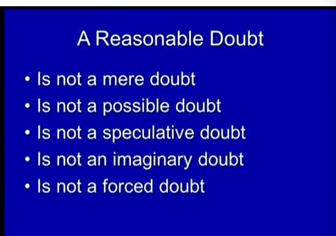 (Reasonable Doubt.)