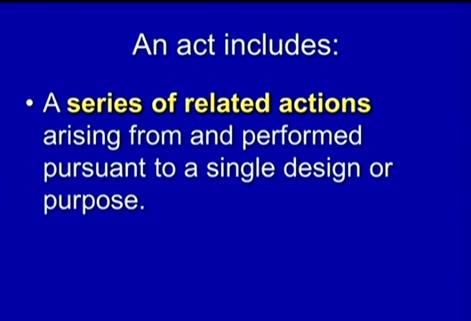 (A Premeditated Act.)