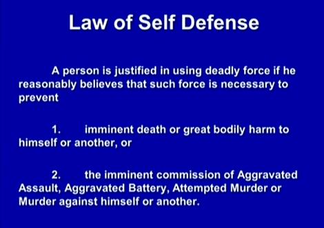 (Self-defense, forcible felony.)