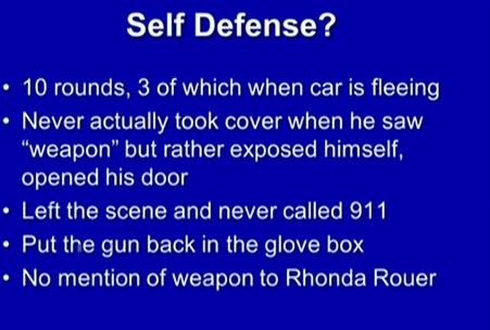 (Dunn's conduct not self-defense.)