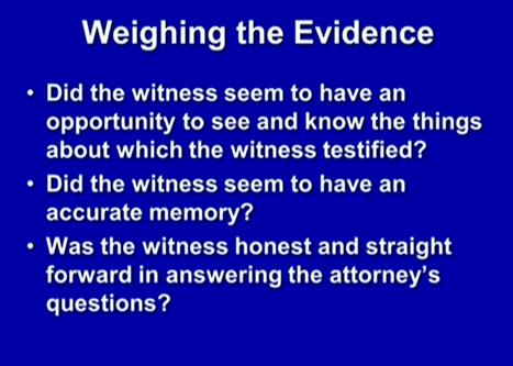(Weighing the evidence.)