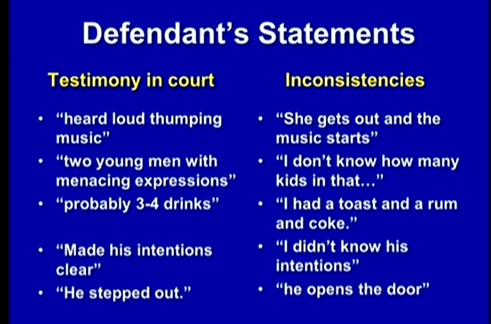(Dunn's inconsistent statements.)