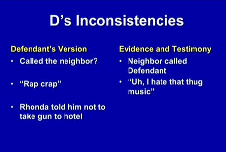 (Dunn's inconsistent statements 3.)