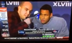 Superbowl post game interview 9-11 Truther