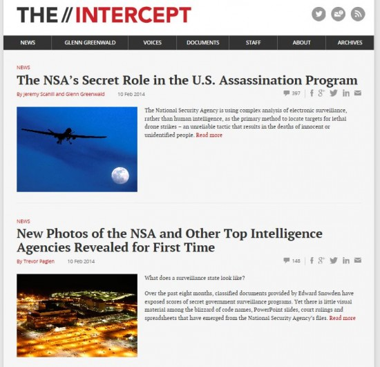 The Intercept February 10 2014