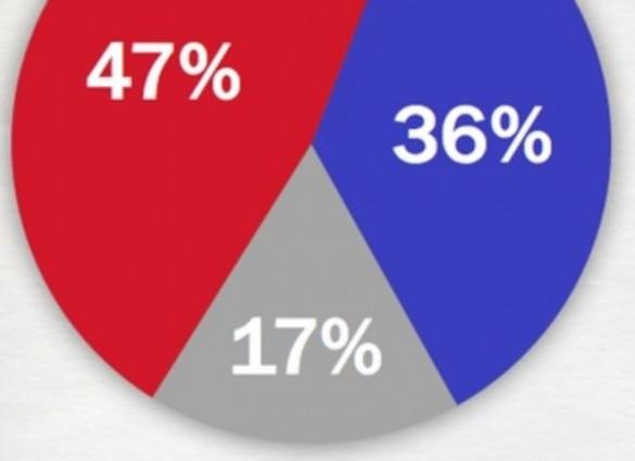 U Texas Poll Feb 2014 Abbott Davis partial pie chart