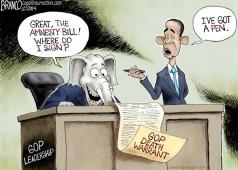 GOP Amnesty cartoon