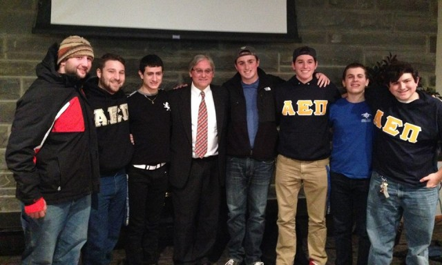 William Jacobson at Ithaca College Case for Israel Academic Freedom w Alpha Epsilon Pi