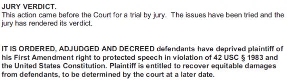 Adams v UNC - Wilmington - Judgment