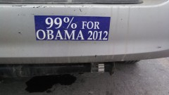 Bumper Sticker - Ithaca - 99 percent Obama