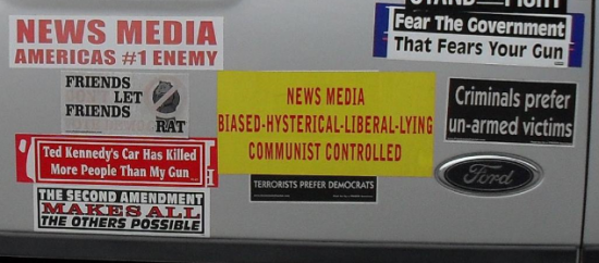 Bumper Sticker - Kingsland GA - News Media close up