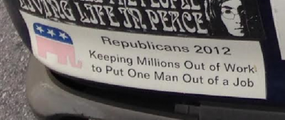 Bumper Sticker - Miami Edgewater - 2012 Election