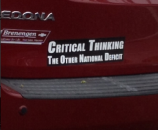 Bumper Sticker - Venice FL - Critical Thinking