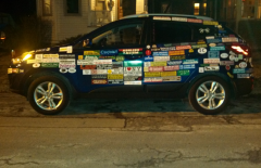 Bumper Stickers - Ithaca - All Over Sized