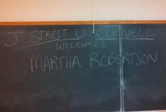 J Street U Cornell Welcomes Martha Robertson