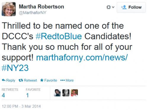 Martha Robertson Red To Blue Tweet 3-3-2014