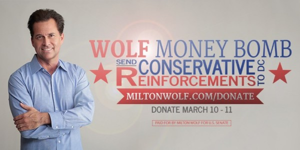 Milton Wolf Money Bomb Banner