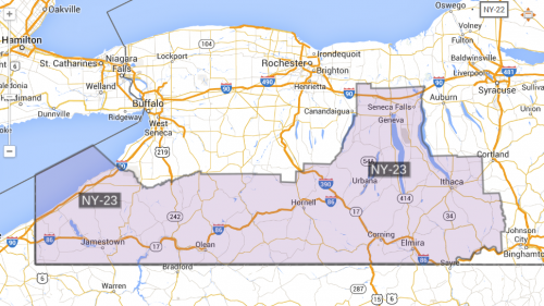 NY-23 District Map 2014