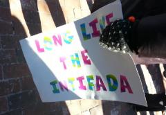 Northeastern SJP Rally 3-18-2014 Long Live The Intifada 2