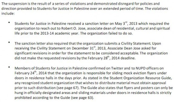 Northeastern SJP Suspension Notice 2