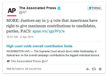 McCutcheon v. FEC | SCOTUS | campaign finance | supreme court