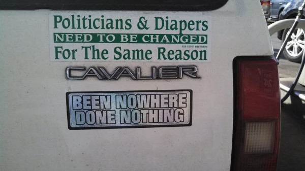 Bumper Sticker - Long Island - Change Politicians