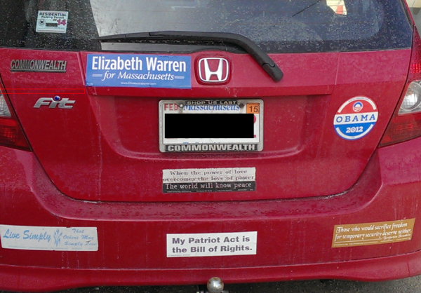 Bumper Sticker - Walpole MA - Ben Franklin