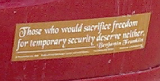 Bumper Sticker - Walpole MA - Ben Franklin quote