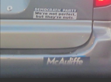 Bumper Stickers - Virginia - McAuliffe