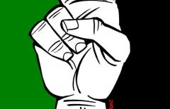 Cornell SJP Divestment Logo Hand