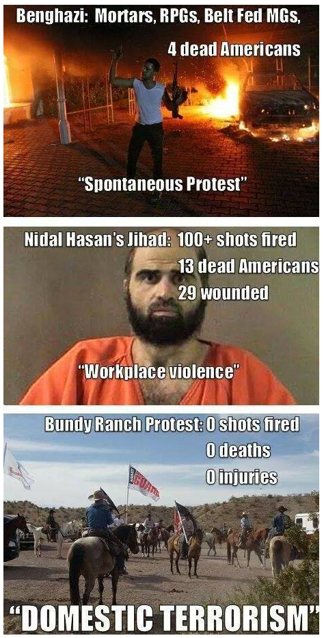 http://youngcons.com/how-liberals-view-benghazi-vs-fort-hood-vs-bundy-ranch-summed-up-perfectly-in-3-pictures/