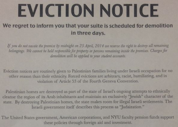 NYU SJP Mock Eviction Notice cropped