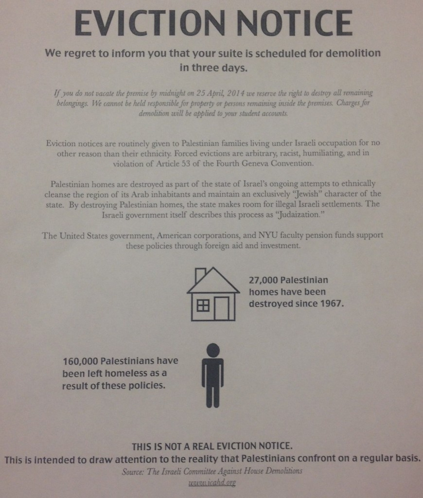 NYU SJP Mock Eviction Notice