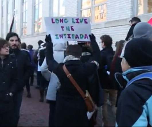 Northeastern SJP Protest Long Live Intifada Sign