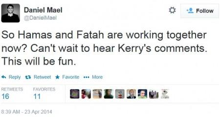 Twitter - @DanielMael - Netanyahu Hamas PLO Unity