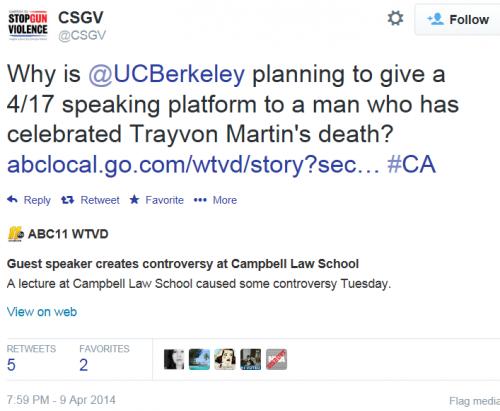 Twitter - Coalition to Stop Gun Violence - Branco Berkeley