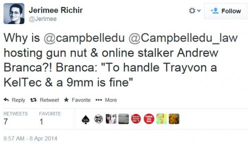 Twitter - Jerimee Richir - Andrew Branca Campbell Law
