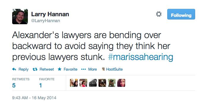 Alexander's lawyers bending over