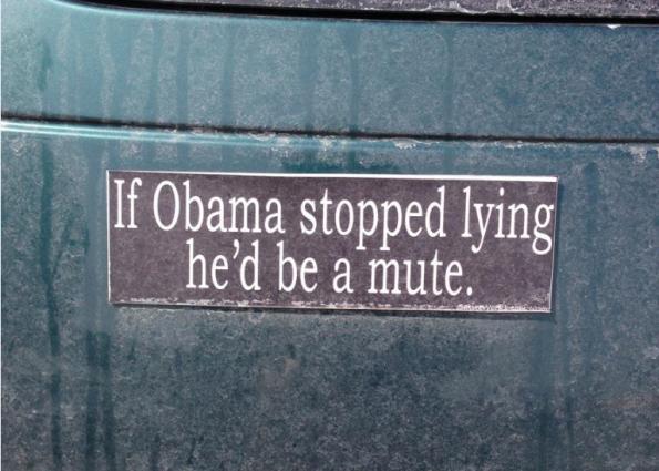 Bumper Sticker - Ithaca - ObamaMute