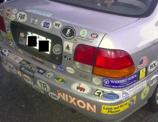 Bumper Sticker - Yonkers - Nixon