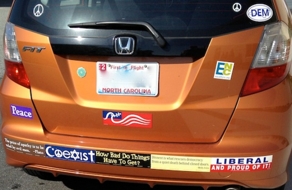 Bumper Stickers - Greensboro NC - Liberal and Proud