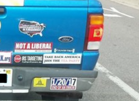 Bumper Stickers - Michigan - Not a Liberal right side