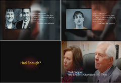 Cochran campaign Had Enought ad screen shots partial